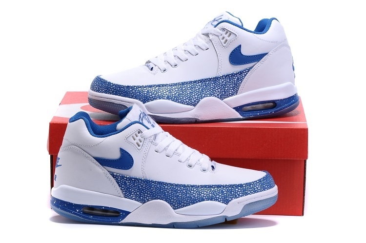 Nike Flight Squad White Blue Shoes
