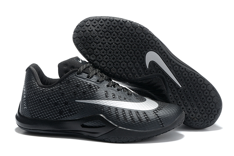 Nike HyperLive EP Low James Harden All Black Shoes