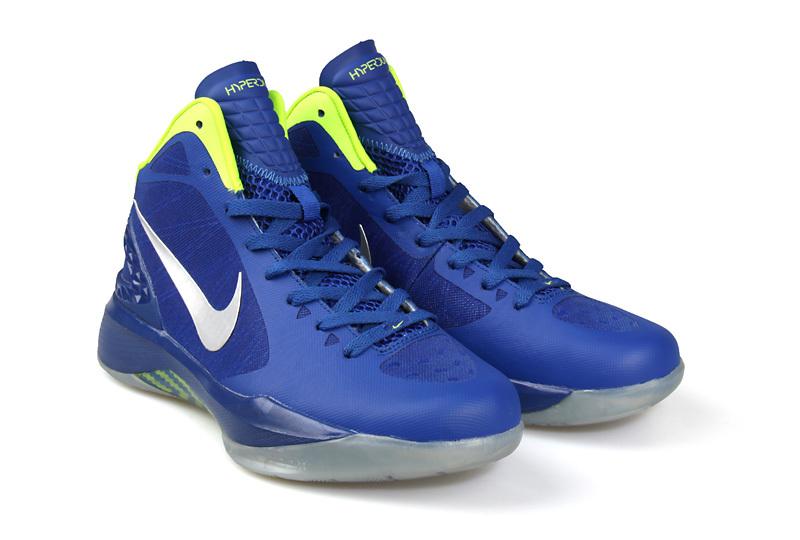 Nike Hyperdunk 2011 Blue White Logo Shoes