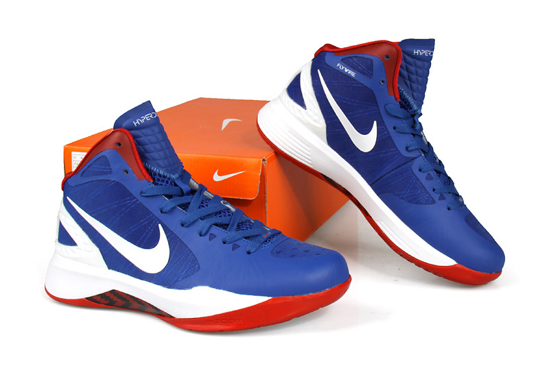 Nike Hyperdunk 2011 Blue White Red Shoes