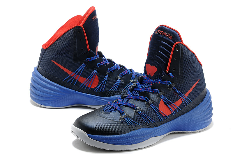 Nike Hyperdunk 2013 XDR Olympic Lebron Dark Blue Red Shoes