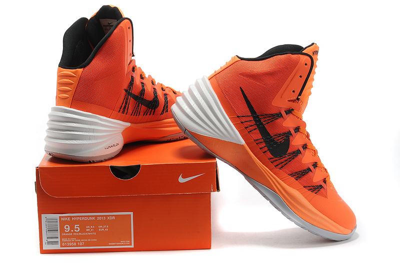Kevin Durant Black Orange Basketball Shoes Fashion Style with High