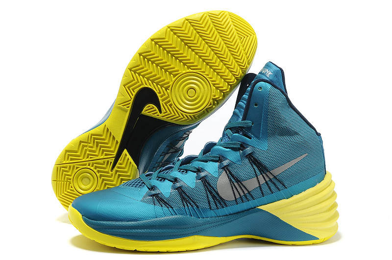 Nike Hyperdunk 2013 XDR Olympic Lebron Shine Blue Yellow Shoes