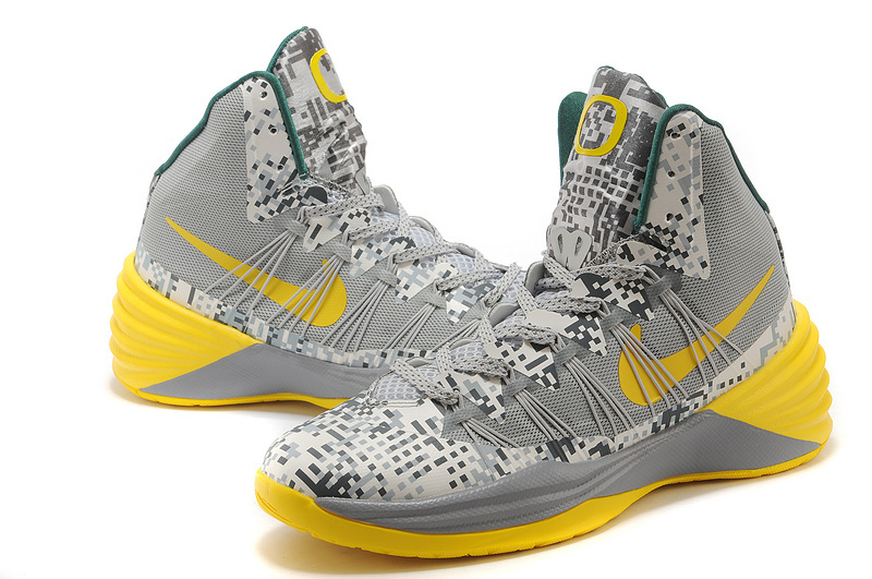 Nike Hyperdunk 2013 XDR Olympic Lebron White Grey Yellow Shoes