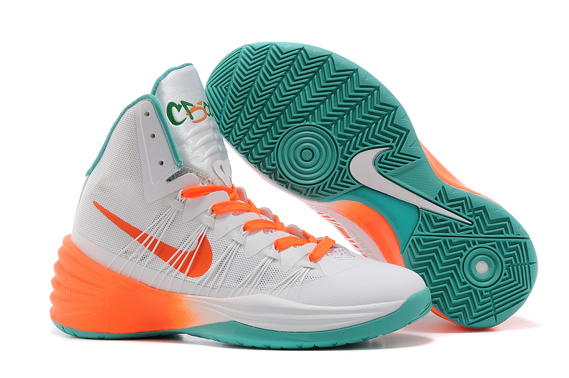 Nike Hyperdunk 2013 XDR Silver Orange Green Shoes