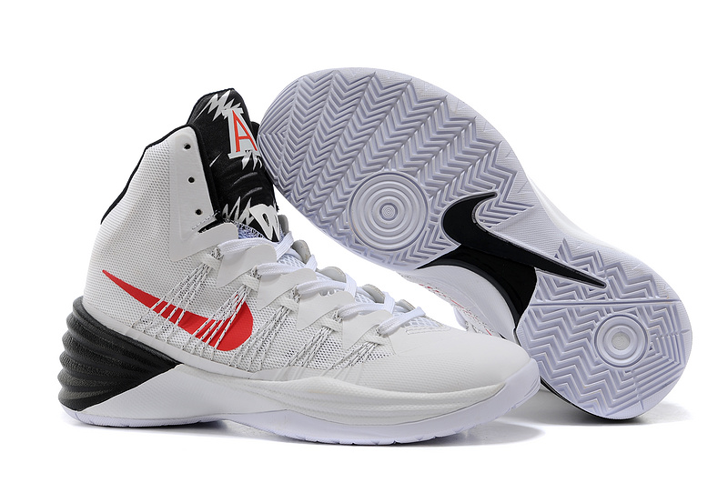 Nike Hyperdunk 2013 XDR White Black Red Swoosh Shoes