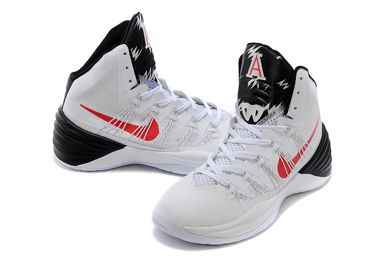 Nike Hyperdunk 2013 XDR White Black Red Swoosh Shoes ...