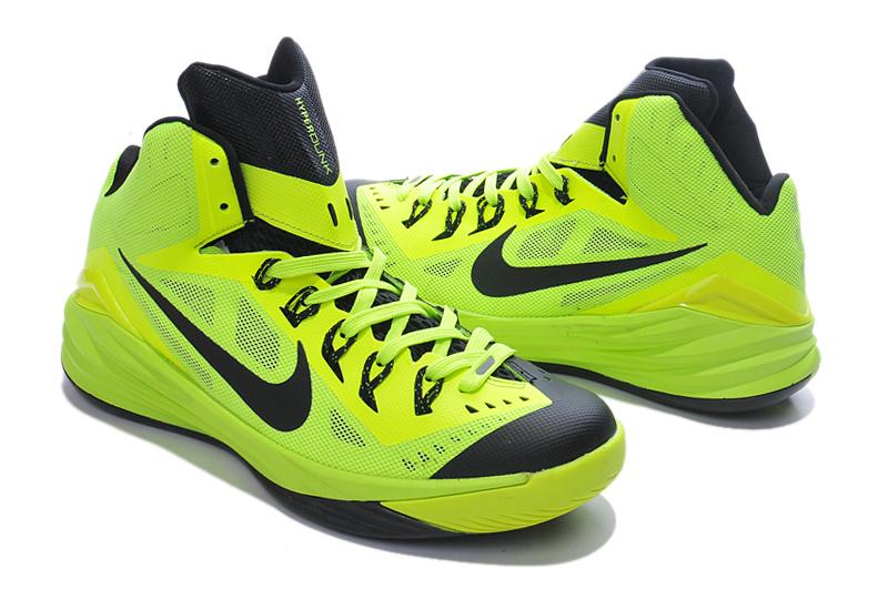 Nike Hyperdunk 2014 Green Black Shoes