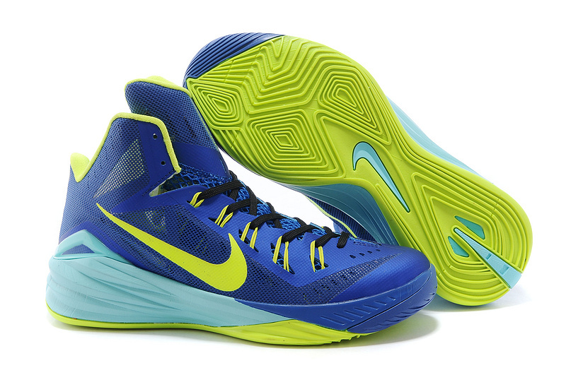Nike Hyperdunk 2014 XDR Blue Fluorscent Green Shoes