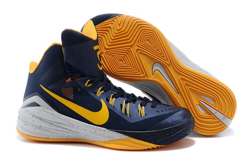 Nike Hyperdunk 2014 XDR Deep Blue Yellow White Shoes