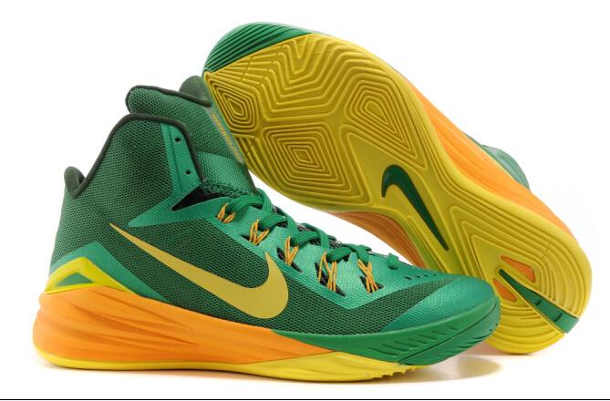 2014 Nike Hyperdunk XDR Basketball Shoes Green Yellow
