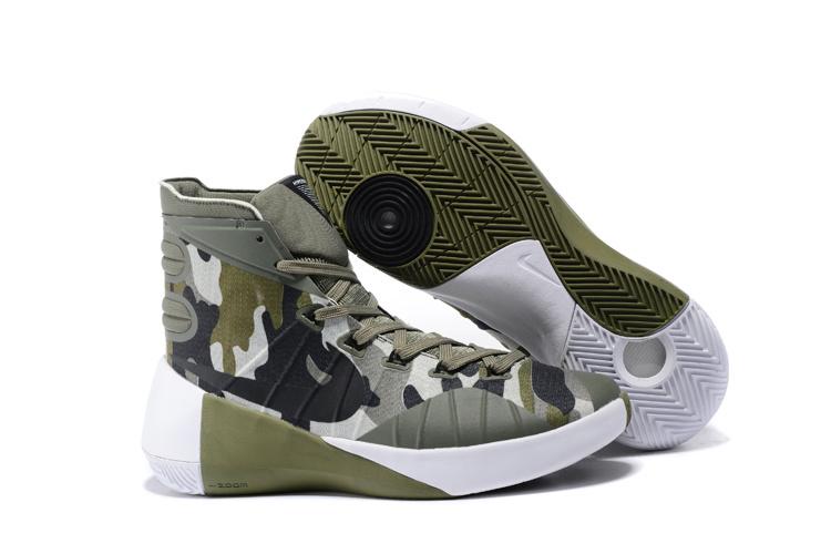 eb0f9e7f84b8 Nike Hyperdunk 2015 Army Green White Basketball Shoes