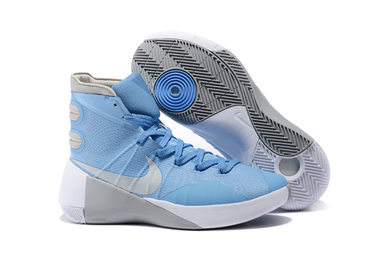 Nike Hyperdunk 2015 Baby Blue Grey White Basketball Shoes