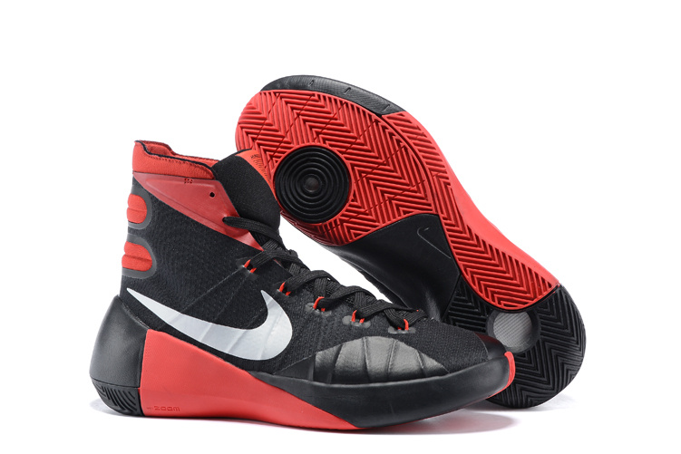 Nike Hyperdunk 2015 Black Red Basketball Shoes