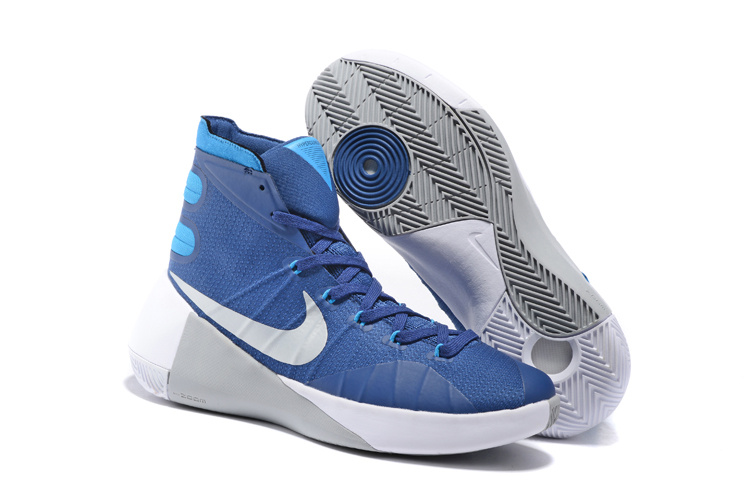Nike Hyperdunk 2015 Blue White Grey Basketball Shoes
