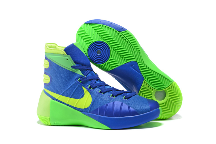 Nike Hyperdunk 2015 Deep Blue Green Basketball Shoes