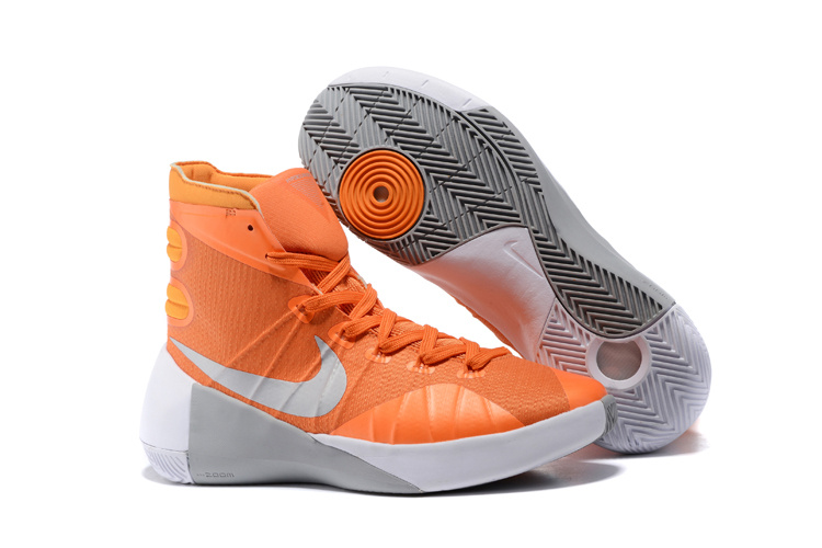Nike Hyperdunk 2015 Orange Grey Basketball Shoes