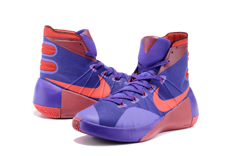 Nike Hyperdunk 2015 Purple Red Basketball Shoes