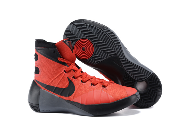 Nike Hyperdunk 2015 Red Black Basketball Shoes