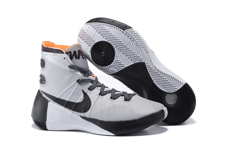 Nike Hyperdunk 2015 White Black Orange Shoes