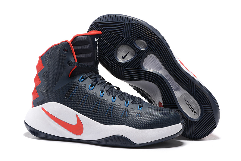 Nike Hyperdunk 2016 Olympick Deep Blue White Red Shoes