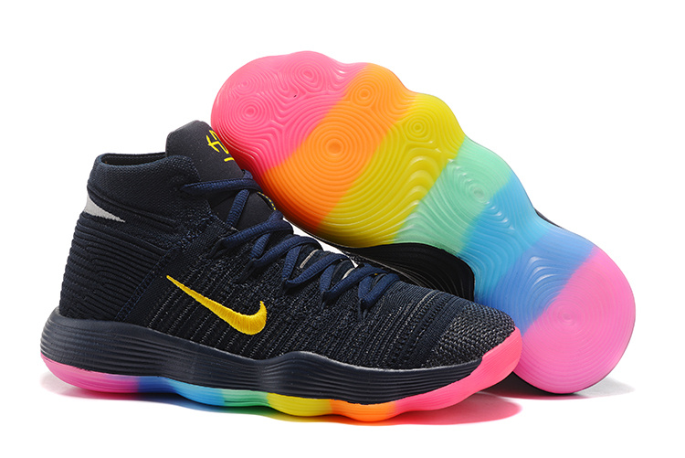 Nike Hyperdunk 2017 Deep Blue Yellow Pink Shoes