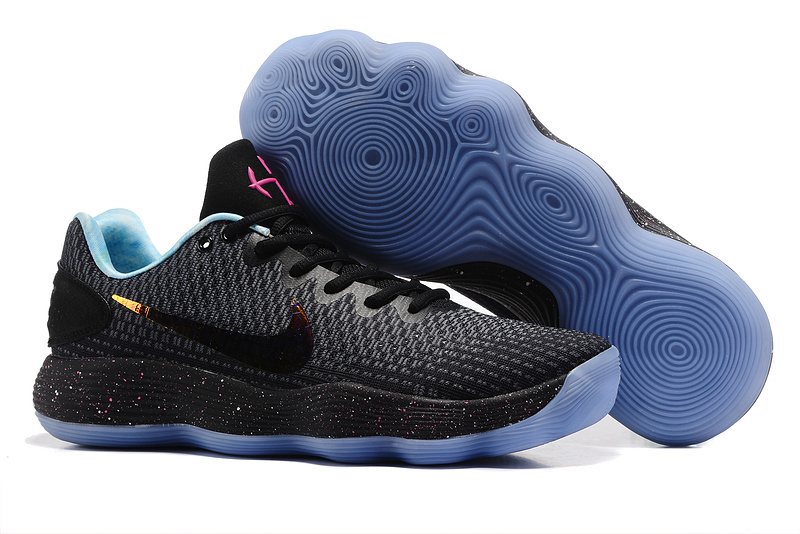 Nike Hyperdunk 2017 EP Low Black Ice Blue Sole Shoes
