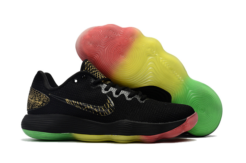 Nike Hyperdunk 2017 Low Black Gold Colorful Shoes