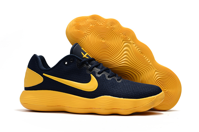 Nike Hyperdunk 2017 Low Deep Blue Yellow Shoes