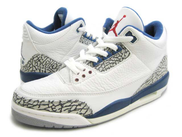 Nike Jordan 3 Retro White Cement Grey True Blue Shoes