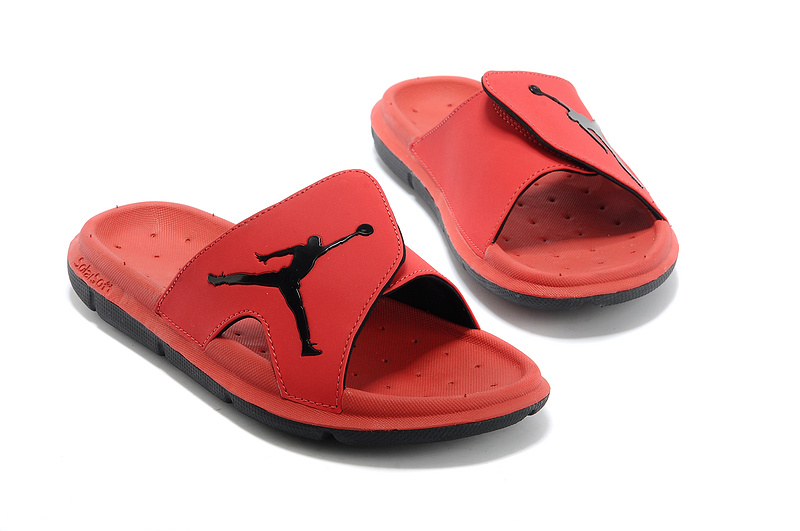 Nike Jordan Massage Hydro All Red Black Logo Sandal