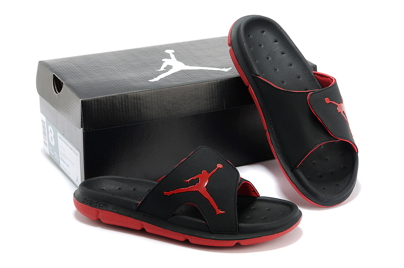 Nike Jordan Massage Hydro Black Red Sandal