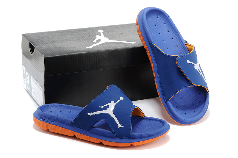 Nike Jordan Massage Hydro Blue Orange White Sandal