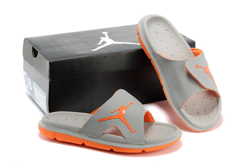 Nike Jordan Massage Hydro Grey Orange Sandal