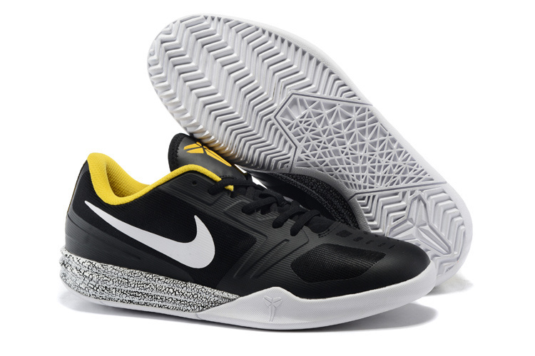 Nike KB Mentality Black Grey Yellow Basketball Shoes