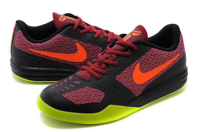 Nike KB Mentality Black Red Fluorscent Shoes
