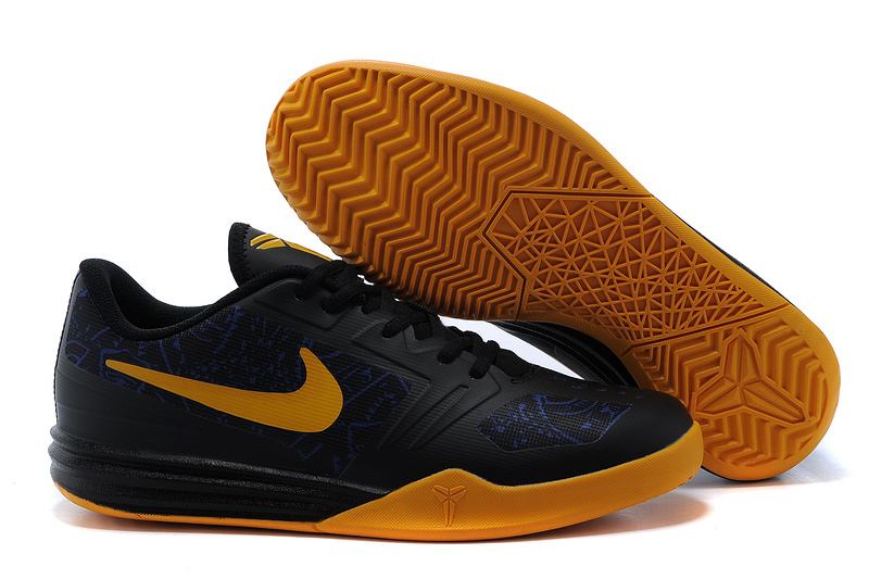 Nike KB Mentality Black Yellow Shoes