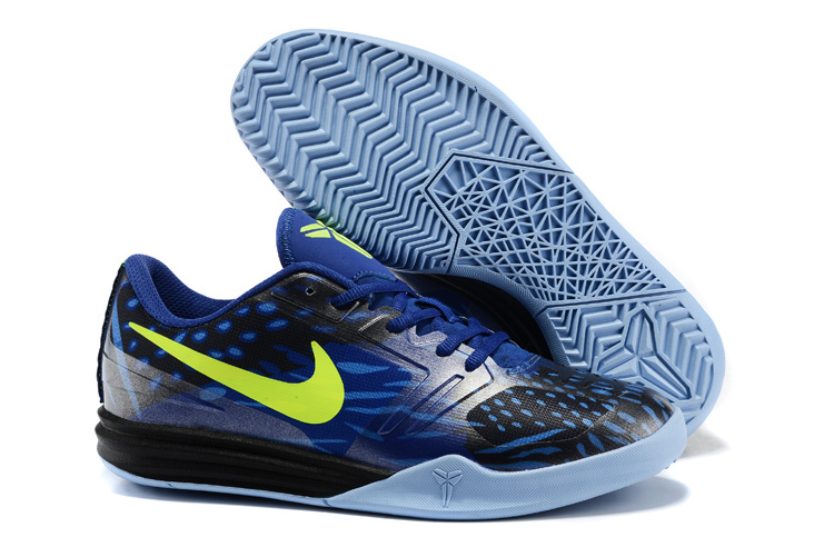 Nike KB Mentality Blue Black Fluorscent Basketball Shoes