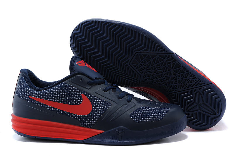 Nike KB Mentality Dark Blue Red Shoes