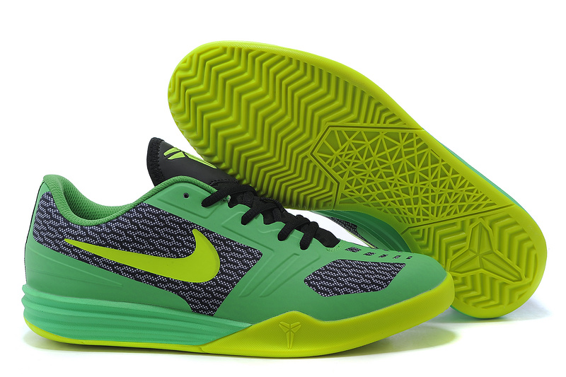 Nike KB Mentality Green Black Fluorscent Shoes
