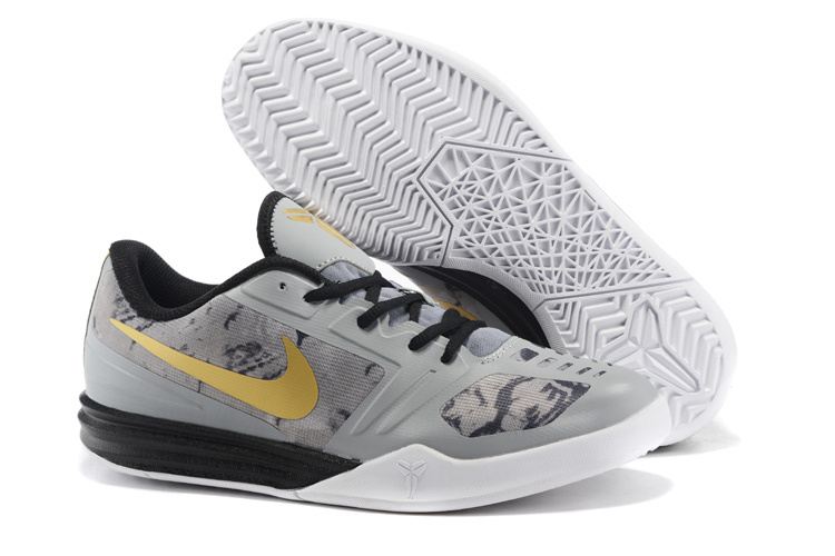 Nike KB Mentality Grey Black Gold Basketball Shoes