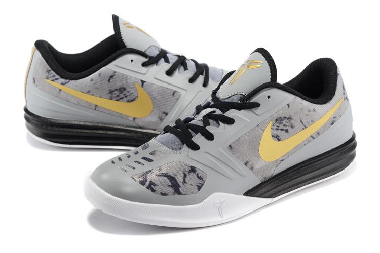 51195469d72 Nike KB Mentality Grey Black Gold Basketball Shoes  KBM006  -  80.00 ...