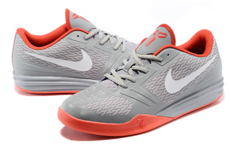 new styles df007 3af0c Nike KB Mentality Grey Orange Basketball Shoes