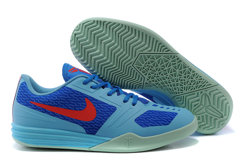 Nike KB Mentality Light Blue Blue Red Shoes