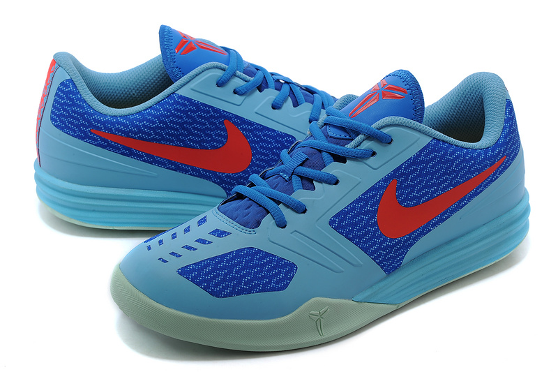 best cheap 7aa5a 217e2 Nike KB Mentality Light Blue Blue Red Shoes