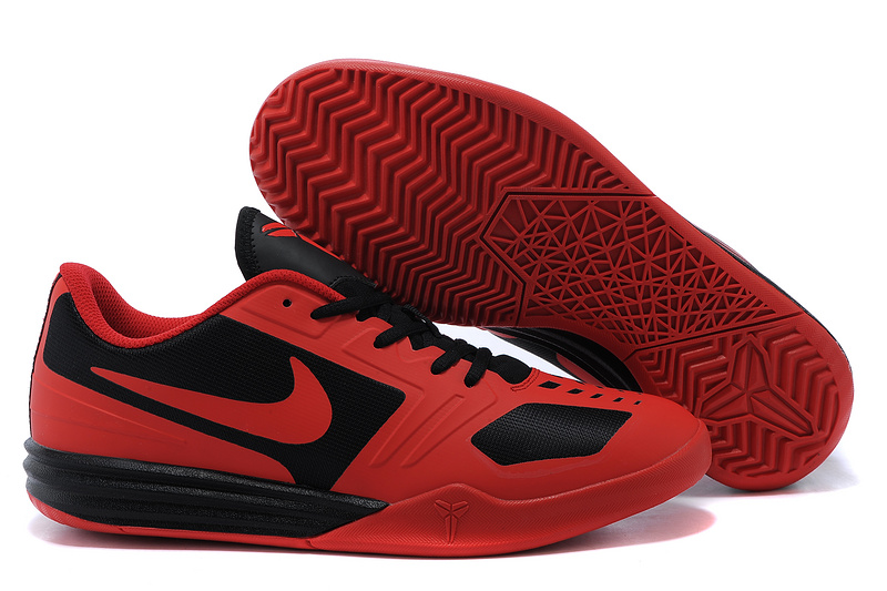 Nike KB Mentality Red Black Shoes