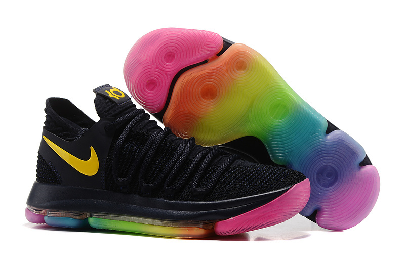 Nike KD 10 Black Yellow Pink Shoes