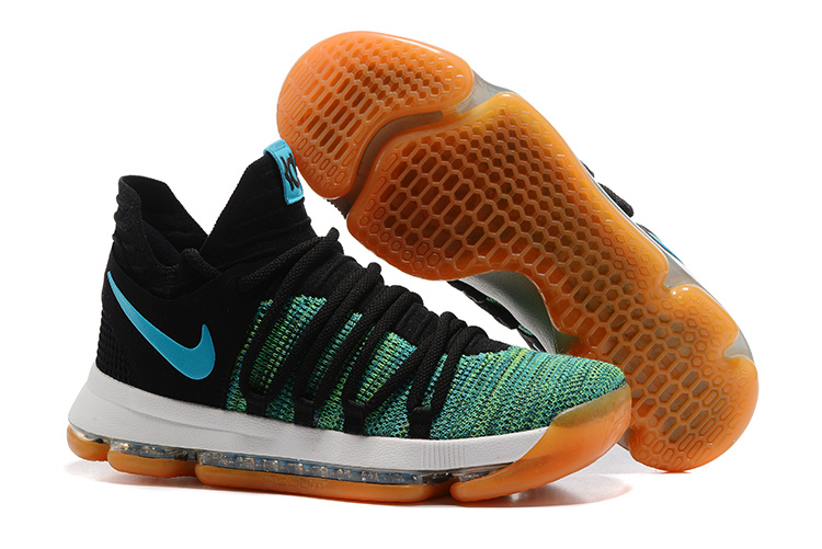 Nike KD 10 Green Black Yellow Shoes