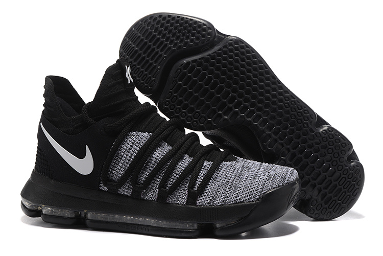 Nike KD 10 Oreo Black Grey Shoes