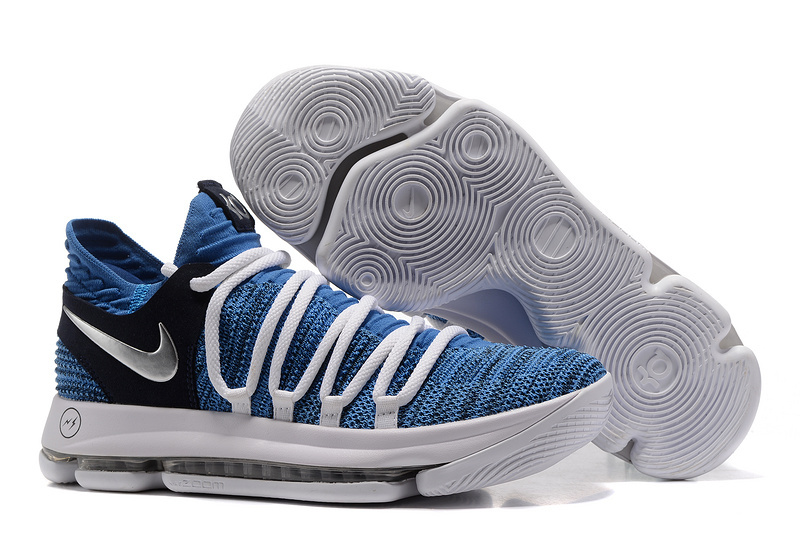 Nike KD 10 White Blue Black Shoes